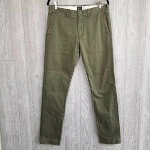 J. Crew men's green chino pants